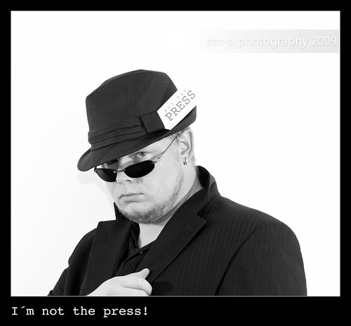 I´m not the press