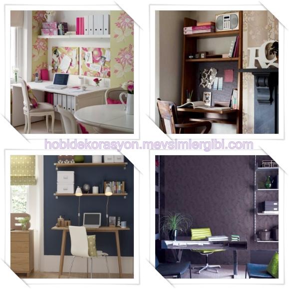 çalışma odası dekorasyonu önerileri çalışma odası resimleri fikirleri
