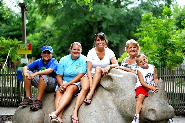 family on rhino