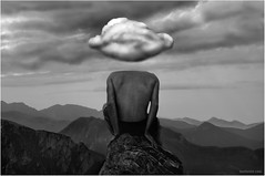 Cloud and Mind, Winds of Life (Ben Heine) Tags: light blackandwhite bw cloud nature animal rock montagne landscape freedom back crazy perfume symbol body head spirit surrealism infinity unity horizon hill pillar surreal poland peak pic thoughts dos libert mind slovakia unreal nuage topoftheworld incense colline tte tatras tatra correspondance penses humancondition tatramountains rysy eaglehawk benheine humanandnature williamaggeler hubertlebizay hubzay
