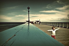 (andrewlee1967) Tags: pier child run llandudno wales ricoh capliogx100 andrewlee1967 uk conwy gb britain girl infant young joy happy lamp people walk rail sea coast seaside wood cymru surreal jump wave running kid explore frontpage freedom mywinners andrewlee