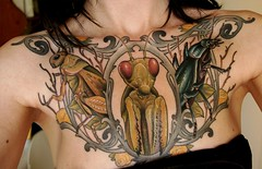 Insect tattoo (hexapoda_) Tags: me tattoo mantis portland beetle insects bugs grasshopper scapegoat hexapoda ryanmason chestpiece