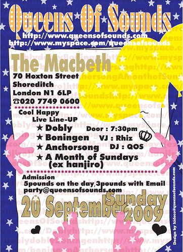 QOS party on 20 Sep 2009 at The Macbeth!