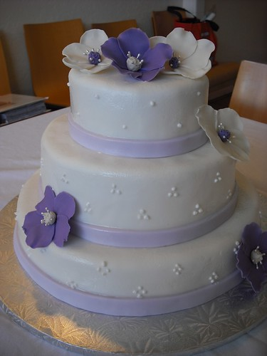 The Smart Cookie Bakery: Purple and White Wedding Cake