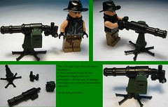 Minigun with Stand and Ammocase (zelegoking) Tags: mod lego minigun brickarms