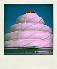 The Daily Scoop (Exit to Future World) Tags: old architecture florida roadside midcentury twisteetreat poladroid
