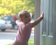 Liesl at the Screen Door
