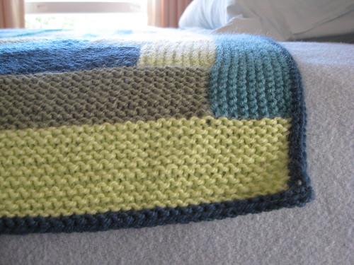 log cabin blanket edging