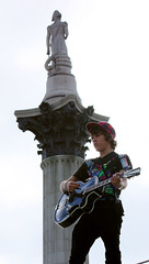 One and Other-Guitar Playing (Feggy Art) Tags: music playing london art canon square eos rebel one other kiss play guitar performance trafalgar trafalgarsquare 4th player performanceart antony fourth plinth gormley xsi antonygormley x2 fourthplinth oneandother g4p 450d canon450d feggy canonxsi victius feggyart
