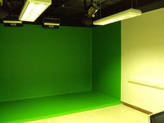 Green screen video production room