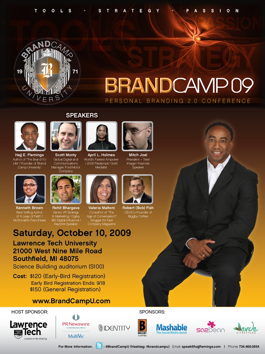 Brand Camp '09 - Personal Branding 2.0 Conference (eflyer)