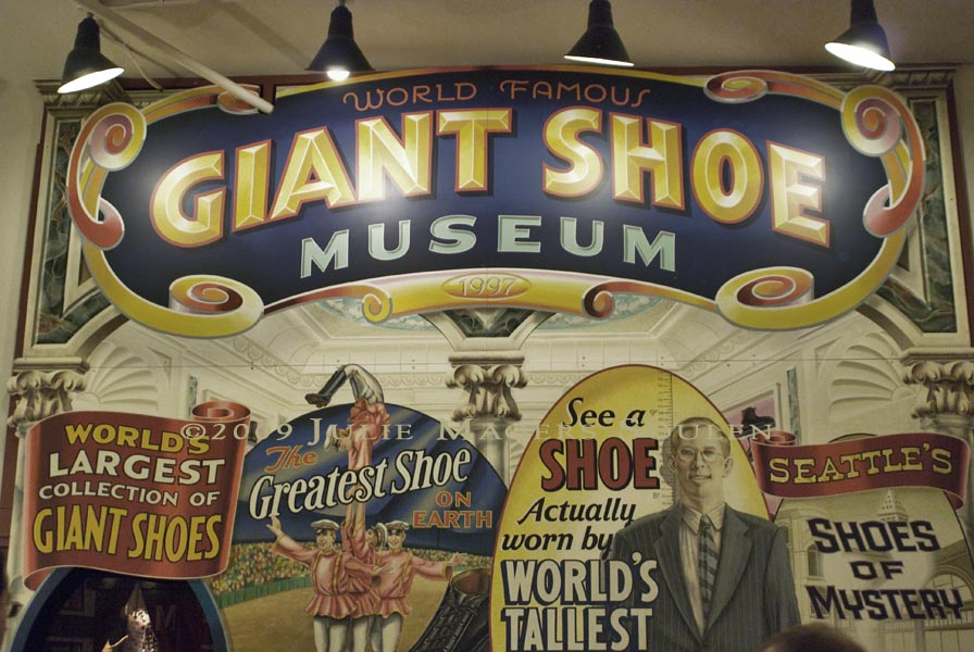 giant shoe museum at Pike Place Market in Seattle