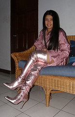 Thigh Length Pink Boots (johnerly03) Tags: fashion asian boots philippines trench thigh filipina length raincoat erly