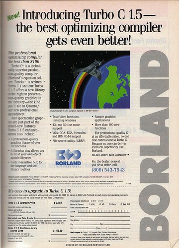 Software ads from 1988