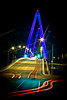 Pomeroy/ Mason Bridge (twelve11photo) Tags: bridge light ohio people cars night dark photography interesting awesome picture things headlights best westvirginia slowshutterspeed