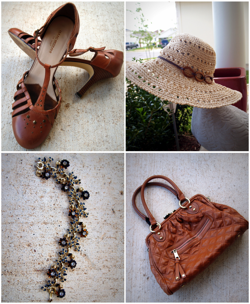 Brown accessories