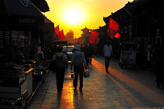 Ping Yao Town at Sunset (fgcp035) Tags: light sunset shanxi pingyao  2470mm   d700 hangean