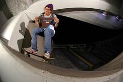 """Game Over"" (Cherryrig) Tags: night clothing nikon skateboarding flash d70s bank lazy skate plain cheltenham skyport 105mmf28gfisheye qflash cherryrig"