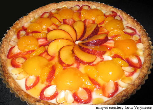 Fruit Tart, Fruit Tart Pic, image c/o Your Veganesse