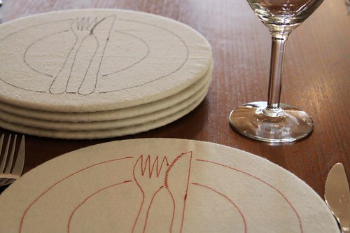 How to make a reversible placemat cover...