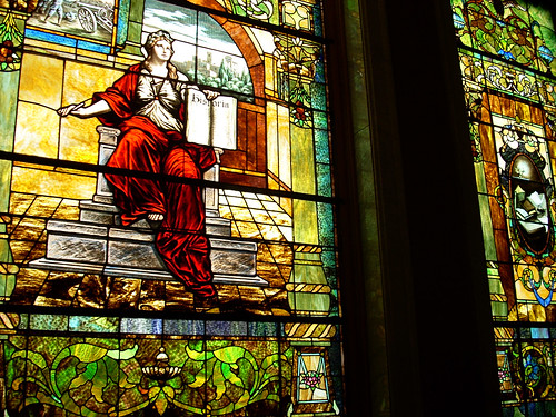 stained glass at state lib