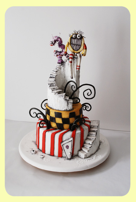 Edward Scissorhands Wedding Cake