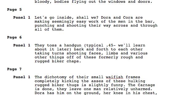 Suicide Sisters Script excerpt