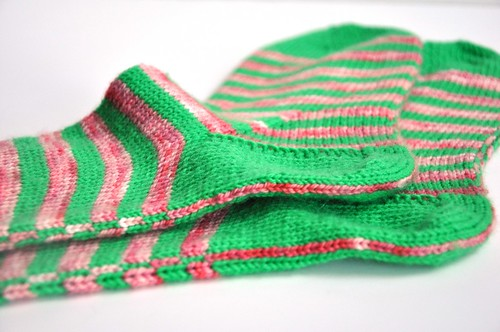 3rd pair of burning stripes socks finished-8