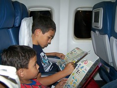Reading on the Plane