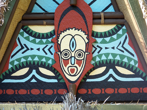 Tiki detail on a roof
