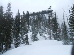 Summit ridge in the distance