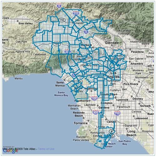 Franklin Avenue L A Times Unveils Its Los Angeles Map Braces For