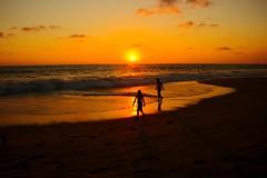 [フリー画像] [人物写真] [一般ポートレイト] [シルエット] [ビーチ/海辺] [夕日/夕焼け/夕暮れ] [橙色/オレンジ]     [フリー素材]