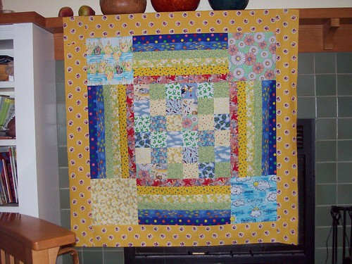 Finished Baby Quilt Top to Donate