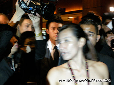 Edison Chen is the one in tie - do you see him?