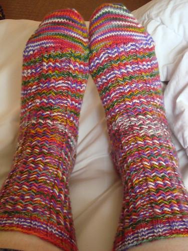 Christmas Balls Herringbone Rib Socks