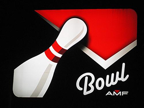 Retro Bowling Sign in Richmond, VA