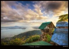 Taal Lake (Jaydee Pan (Stopped for a while)) Tags: sea cloud lake nature water animals clouds photoshop canon landscape zoo cow farm philippines cottage sigma rays 1020 tagaytay taal hdr breathtaking lightroom photomatix excellentcapture 400d breathtakinggoldaward breathtakinghalloffame