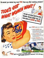 Tide Advertisement 1949 (christine592) Tags: woman vintage tide ad 1949 detergent
