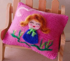 """New pillow for Blythe (Approx. 5"""" x 6"""")"""