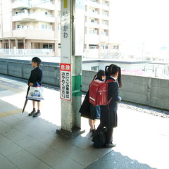 boy & girls (plus45) Tags: people station digital square wide chiba ricoh ichikawa grdigitalii