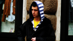 (Daniele Peruzzi) Tags: road street city portrait urban italy rome color roma wall kids photoshop lumix town strada italia shot panasonic panning ritratto dmc lazio citt cs3 tz1 roob sdcmtz1