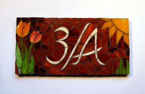 House number plaque - 3/A