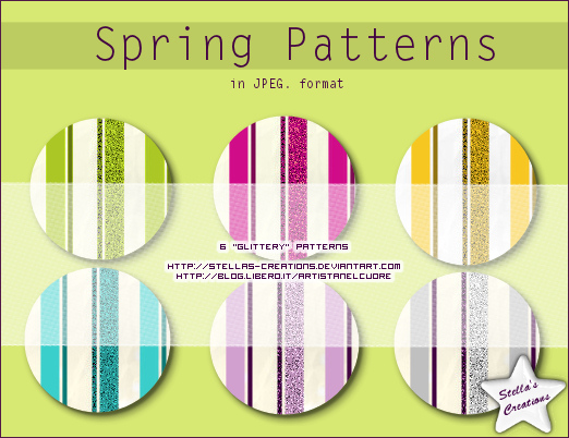 Spring patterns - © Blog Stella's Creations: http://sc-artistanelcuore.blogspot.com