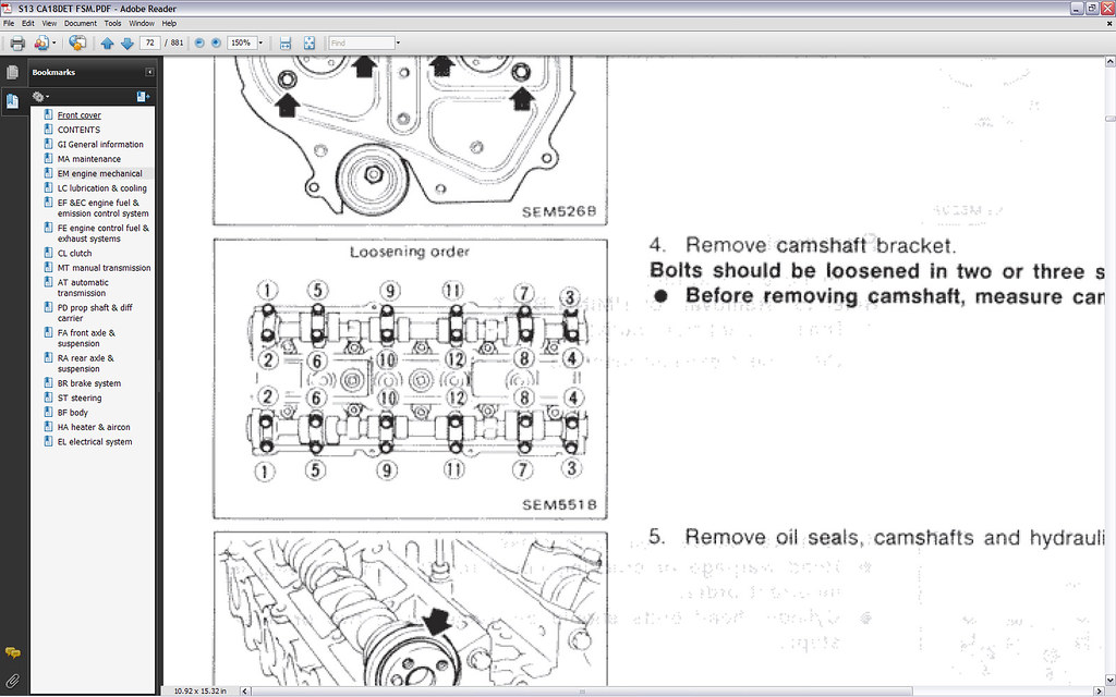 how to ca18det exhaust cam swap and cam seal replacement the one in place on the exhaust side of my motor was fine so i only removed the intake cam for the swap follow the diagram below for removing the cam