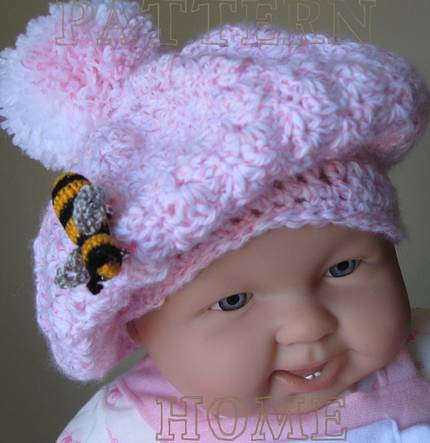 Woolly Wormhead - Baby Rollin' Beret free knitting pattern