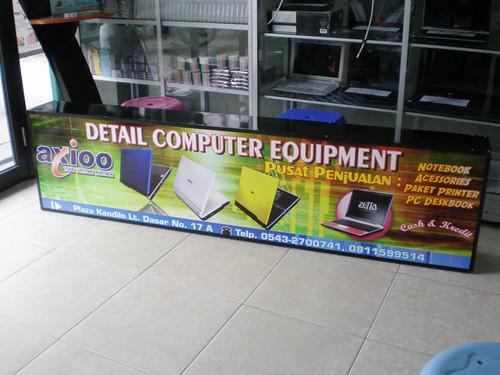 Reklame Neon Box toko Detail Komputer - Grogot