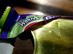 I've got a golden ticket! (frankieleon) Tags: macro gold interestingness interesting bestof sweet chocolate cc creativecommons popular candybar wonka goldenticket williewonka macromondays frankieleon