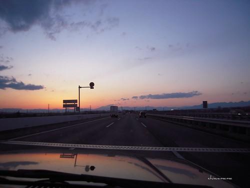 高速道路での風景