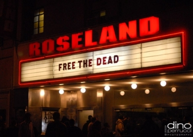 Free The Dead -- Roseland Ballroom marquee 3/30/09